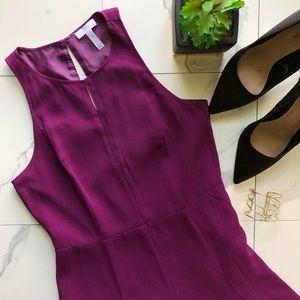 Leith Purple Keyhole Dress